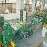 Chapa de aço industrial que corta e linha máquina do rebobinamento