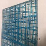 Gafa de seguridad del vidrio/del vidrio/emparedado del arte/vidrio laminado teñido con la línea azul