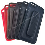 Caja de cuero suave del teléfono celular del caso de TPU para Samsung J7prime S8 J7 (2017) TPU para el shell del teléfono móvil del material 3in1 Stent de Huawei P9lite Mate9 TPU+Leather+Cushioning