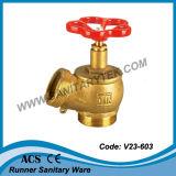 Messingfeuer-Landung-Hydrant-Ventil (V23-603)