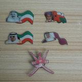 Pin timbrato del risvolto del distintivo del metallo di marchio della bandiera nazionale