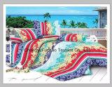 Gebildet in China-Polyester 100% Microfiber druckte das Bettwäsche-Set, das für Hotel verwendet wurde