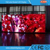 Visualización de LED de alquiler de la alta calidad P3.91 para la promoción