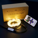 El LED teledirigido que las luces estrelladas de la cadena en el alambre de cobre incluyen el adaptador 33feet 100 de la potencia de la UL llevó blanco caliente
