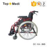 Fauteuil roulant manuel de pliage confortable en aluminium pour des handicapés