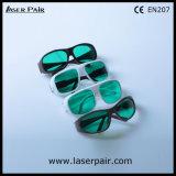 El tipo de moda de anteojos de la protección del laser de las gafas de seguridad de laser del diodo rojo laser 635nm y 808nm protege longitud de onda: 630-660nm y 800-830nm con el marco 55