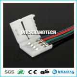 10mm 4pin de Kabel van de Schakelaar Solderless voor het 5050 RGB LEIDENE Licht van de Strook
