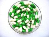 Formato vuoto 0 della capsula separato gelatina dura bianca verde