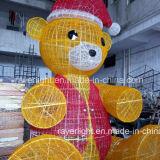 4m 키 큰 LED 장난감 곰 큰 옥외 크리스마스 훈장 빛