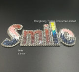 Ferro pequeno do motivo do Rhinestone de Hotfix do sorriso no Applique das correções de programa para o vestido dos sacos da sapata (TS-Sorrir)