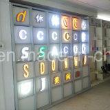 Delantero-Lit de acrílico que hace publicidad de la señalización/de la carta del LED