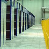 Cremagliera del pavimento di mezzanine delle 2 file con il silos di immagazzinamento