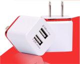 Adaptateur duel de chargeur de mur de la fiche UE/USA USB pour le téléphone mobile
