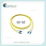 LC/PC LC/APCのデュプレックスシングルモード光ファイバPatchcord