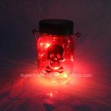 Luces de hadas colgantes solares hermosas impermeables de la luciérnaga LED del tarro de masón de la lumbrera del uso al aire libre