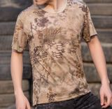 Van het Katoenen van 100% de T-shirt van Camo Af:drukken van het Pigment