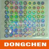 Anti collant faux fait sur commande d'étiquette de laser d'hologramme de matrice de points du roulis 3D