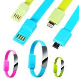 Кабель данным по Sync USB миниого типа браслета Wristband плоского портативный поручая на Android iPhone Samsung 6 6plus 6s 5 5s