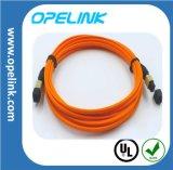 MPO/MTP Faser-Optiksteckschnür optisches Faser-Kabel LAN-/Network