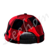 Embossed PU Leather Applicate Check Snapback Wintter Cap