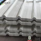 Colorer la tôle d'acier ondulée enduite pour la feuille de toiture