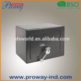 Ökonomischer mini sicherer Kasten mit Schlüsselverschluß, fester Stahl mit 2 Schrauben