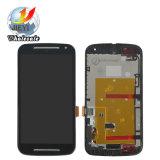 Motorola Moto G2 Xt1063 Xt1068 LCDのための携帯電話LCDおよびフレームが付いているタッチ画面