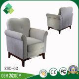 新しいモデルの居間(ZSC-62)のための単一のソファーファブリック椅子