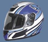 EFull-gezicht Helm (112-White&Blue) DTA (CaNa2)