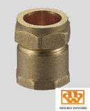 Compresión de cobre amarillo que ajusta el acoplador recto CxC