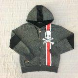 男の子の羊毛はスクエア6448子供の衣服のスポーツのHoodiesのコートのファスナーを締める
