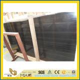 フロアーリングの装飾のための黒い木製の粒状の大理石の石造りの平板