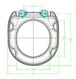 光沢度の高いDuroplast WCの尿素の白い円形の便座