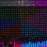 LED RGB 3in1 Video Cloth /LED Curtain Light/LED Vision Curtain P18cm für Live-Musik Show Backdrop mit Fireproof Velour