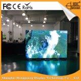Publicidad de la pantalla de visualización de interior de LED del RGB P6 con la cabina del metal para la instalación fija