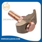 青銅色の裸の地上クランプ-真鍮のネジ