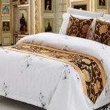 Бегунок кровати гостиницы жаккарда полиэфира вышивки