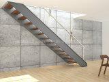 Moderno acero del canal de c Beam Escalera Escaleras / moderno Fabricado con cable de acero inoxidable Barandilla