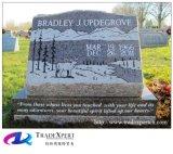 Graniet van de aard sneed de Grafsteen van de Helling voor Begraafplaats