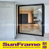 Porte de luxe de tissu pour rideaux faite en aluminium avec la belle vue