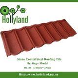 Feuille de toiture en métal avec enduit en pierre coloré (tuile classique)