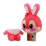 Carte mémoire Memory Stick de PVC USB de lapin d'instrument de promotion pour la promotion