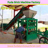 A linha de produção Semi automática pequena concreto do tijolo Hallow a máquina do bloco