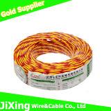 Rvs PVC flexibler verdrehter Kabel-Isolierdoppeldraht