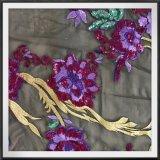 Ricamo di Tulle del ricamo dei Sequins della maglia con i Sequins