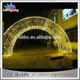 クリスマスの装飾2.5mのゴム製ケーブルが付いている暖かい白LEDのアーチライト