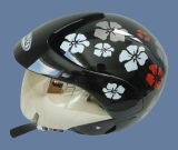 Halve Helm (205-zwarte Snowflower)
