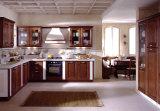 赤いチェリーの純木の台所食器棚