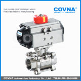 Steel di acciaio inossidabile Pneumatic Control Actuator Ball Valve per Water Treatment