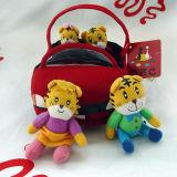 Conjunto del juguete de la familia del tigre de la felpa
